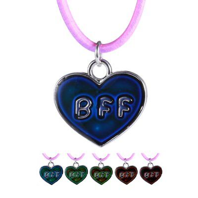 NEW Heart Color Change Temperature Thermo Mood Pendant Chain Necklace Jewelry
