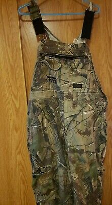 d8861eabddb07 Liberty Camo Bib Overalls Realtree Hunting Fishing Cargo Pants Mens sz 36/38