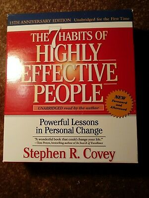THE 7 HABITS OF HIGHLY EFFECTIVE PEOPLE Unabridged, Covey anniversary 13 CD SET