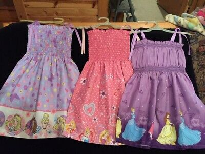 Girls smocktop sundress Disney Princesses 3 styles NEW