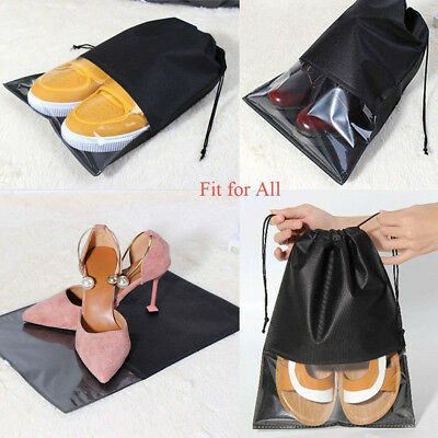 10x Portable Travel Shoe Tote Pouch Shoes Storage Bags Cover Dust Home Buggy dgd