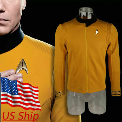 Star Trek Discovery Season 2 Starfleet Captain Pike Shirt Uniform Costumes Badge