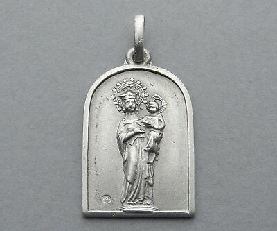 Antique Religious Catholic Sterling Medal. Saint Virgin Mary and Jesus. Pendant.