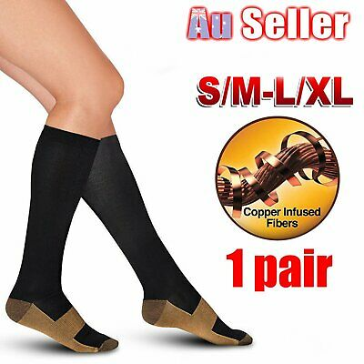 15-30mmHg Medical Compression Socks Foot Support Stockings Travel Flight Socks A