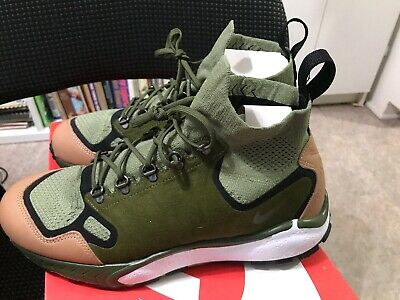 new style e03ca ee86f Nike Air Zoom Talaria Mid Flyknit PRM Mens Size 8 Palm Green Tan 875784-300