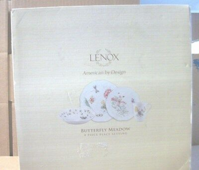 Lenox Butterfly Meadow  4 piece place setting - American By Design  NEW IN BOX