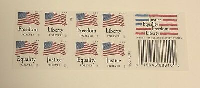 USPS Forever Stamps Justice Equality  Freedom Liberty Booklet of 20