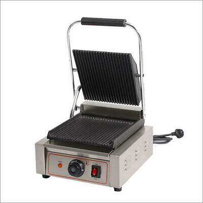 Sandwhich press panini grill cafe restaurant quality ribbed plate