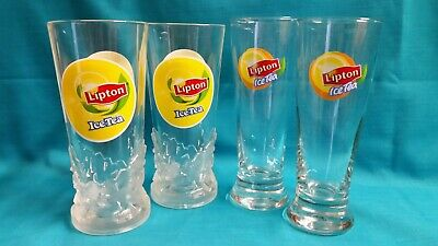 Lipton Iced Tea Drinking Glasses x 4