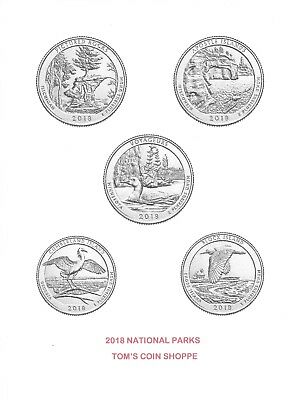 2018 National Park Quarters Complete P, D & S Set (15 Coins) ****in Stock****
