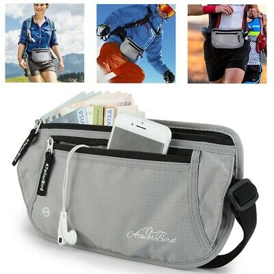 ATailorBird RFID Waist Bag Money Belt Wallet Pouch Passport Anti-Thef Waterproof