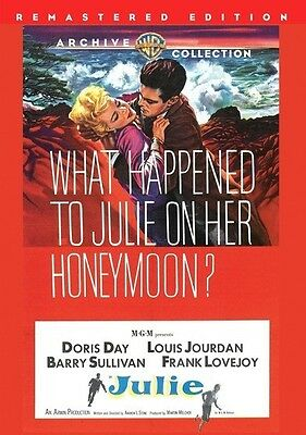 Julie 1956 (DVD) Doris Day, Louis Jourdan, Barry Sullivan, Frank Lovejoy - New!