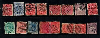 New South Wales barred numeral stamps x 16 (including 3 joined pairs). WOW!