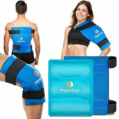 PhysioCare Large Flexible Gel Ice Pack Wrap Hot Cold Therapy for Hip Shoulder
