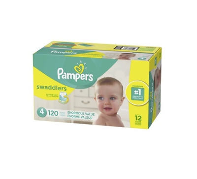 Pampers Swaddlers Diapers Size 4 120 Count - Free Shipping