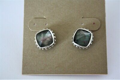 0c6ff4d53953a LAGOS STERLING SILVER Mother of Pearl Greenish Stud earrings NWT
