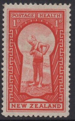 NEW ZEALAND 1935 1d RED KEYHOLE STAMP MH