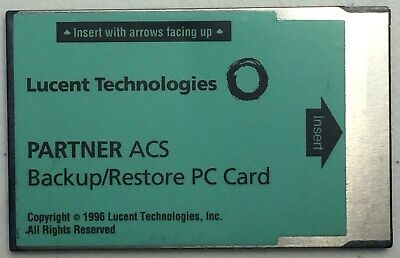 Partner ACS Backup/Restore PC Card (Lucent Technologies)