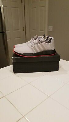 acb9c917d adidas NMD R1 Core Black Solar Red F35882 100% AUTHENTIC size 11.5 US  Running