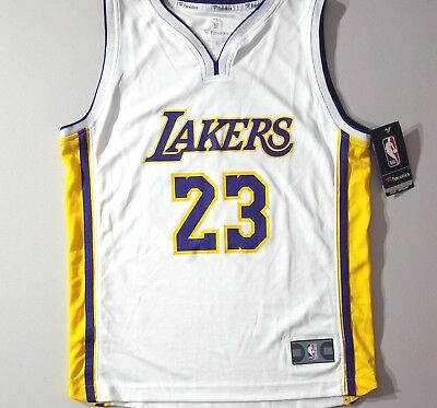 reputable site baae6 e5dd2 LAKERS LEBRON JAMES Fanatics 'Association Edition' NBA Jersey Youth Size  Large