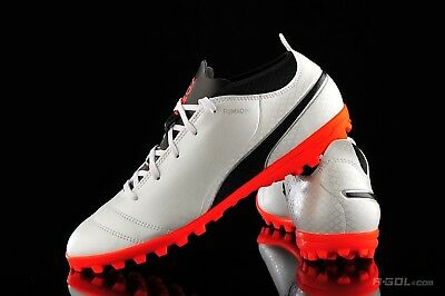 234d5a753332 New Puma One 17.4 TT JR Turf Soccer Shoes Youth Kids White-Black-Coral