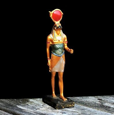 RARE Vintage Egyptian KHONSU Statue Handmade Moon God of Time Travellers Love