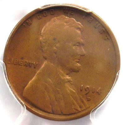 1914-D Lincoln Wheat Cent 1C - PCGS VF Details - Rare Key Date Certified Penny!