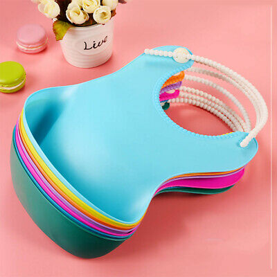Baby Infant Toddler Waterproof Silicone Bib Infants Feeding Lunch Roll-up Apron
