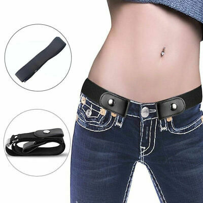 Buckle Free Stretchy Elastic Waist Belt  Womens Invisible Belt for Jeans / Dress