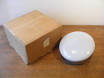 Rare 50s Danish NORDISK SOLAR COMPAGNI Wall Lamp New Old Stock Opal Glass Modern