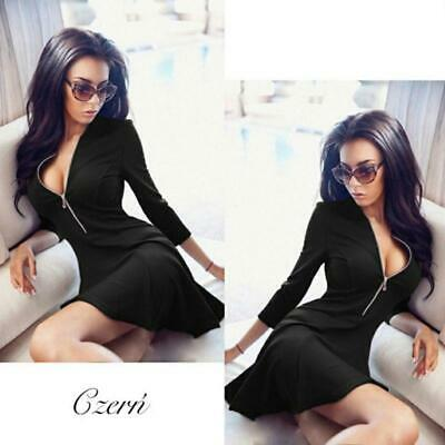 Sexy Women Fashion Dress Deep V Neck Night Club Evening Party Dresses Clothes T