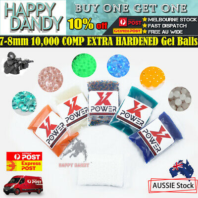 7-8mm 10,000-50,000 COMP HARDENED Milky White Gel Balls Gun Ammo Toy Blaster OZ!