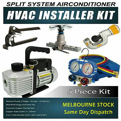 Refrigeration Technician, Plumber and Electrician Split System Install tool kit