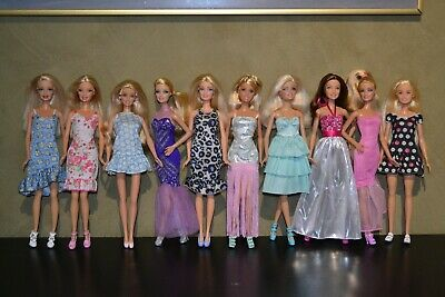 Bulk Lot Of 10 Fully Clothed Barbie Dolls In Excellent Condition Lot 14A