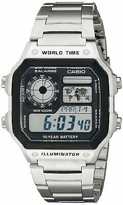 Men's AE1200WHD-1A Stainless Steel Digital Watch