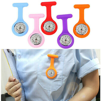 Silicone Nurse Watch Brooch Tunic Fob Watch With Free Battery Doctor Medical E