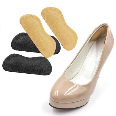 2 Pairs Leather Shoe Heel Pads Liners Inserts Cushion Grip Foot Care Protector