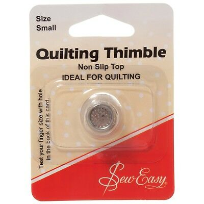 Sew Easy High Quality Thimble Nickel Plated Small Non Slip Quilting Sewing Bnew