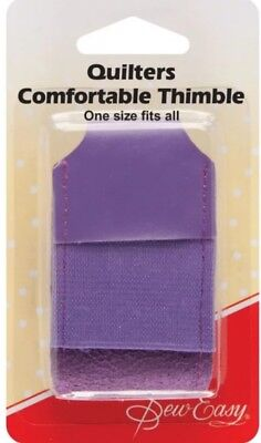 SEW EASY QUILTERS COMFORTABLE LEATHER THIMBLE in PURPLE SEWING. QUILTING BNEW