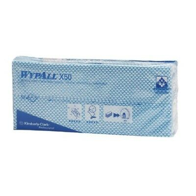 TWO  Wypall x 50  Cleaning Cloths (PACK OF 50) Blue 7441
