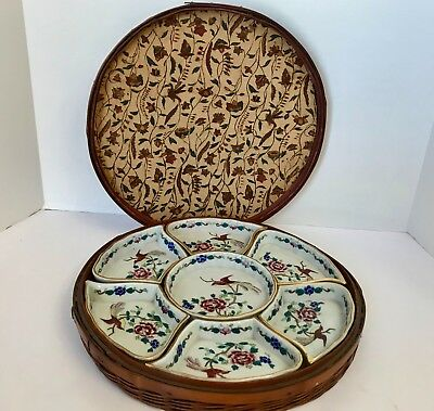 Antique 9 Piece E-OH Nippon Hand Painted Vegetable/Sweet Meat Serving Set