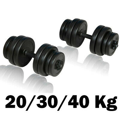 20/30/40Kg Dumbbells Set Vinyl Gym Weights Fitness Training Workout Exercise