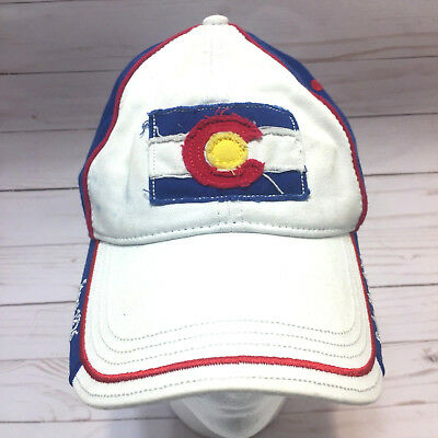 Colorado Hat Rocky Mountains Since 1876 Red White Blue Yellow Baseball Cap Patch