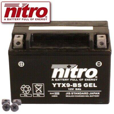 Batterie Kawasaki Z750 ABS ZR750L Bj. 2009 Nitro YTX9-BS GEL