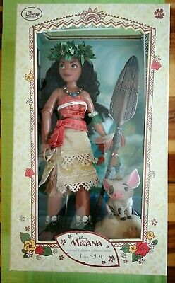 """Disney limited first edition 17"""" Moana Puppe - doll - 42 cm - new in box from UK"""