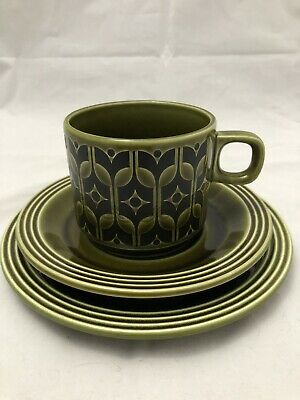 Vintage HORNSEA heirloom trio. Ceramic Cup, saucer and bread plate.
