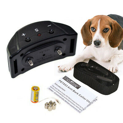 Anti bark Electric Shock Dog E-Collar Stop Barking Pet Training Collar Control