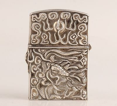 94G Precious China Old Silver Lighter Crust Old Hand-Carved Dragon Sacred Mascot