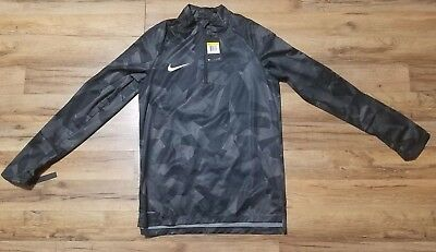 bc6381629 MEN'S NIKE AEROSWIFT Black Gray Shield 1/4 Zip Top Size Small NWT ...