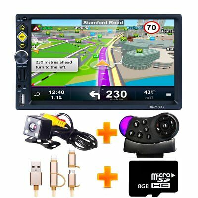 Autoradio Navigation MIT Doppel 2DIN GPS Navi Bluetooth USB MP5 + kamera + Map
